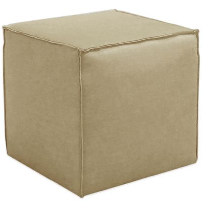 Skyline Furniture French Seam Cocktail Ottoman in Linen Sandstone