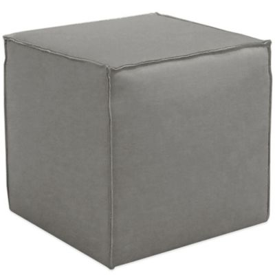 Skyline Furniture French Seam Cocktail Ottoman in Linen Grey