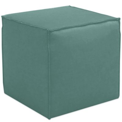 Skyline Furniture French Seam Cocktail Ottoman in Linen Laguna