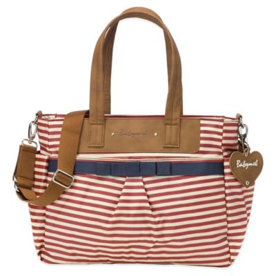 Babymel™ Cara Diaper Bag in Red Stripe