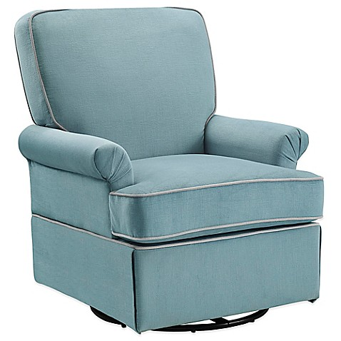 Bebe Confort® Barcelona Swivel Glider in Aqua Blue - buybuyBaby.com