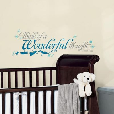 RoomMates Peter Pan Wonderful Thought Wall Decals