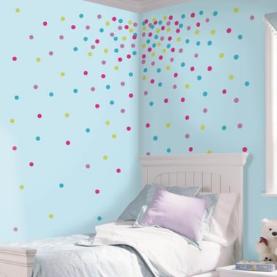 RoomMates Glitter Confetti Dots Wall Decals