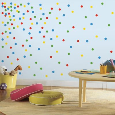 RoomMates Primary Confetti Dots Peel and Stick Wall Decals