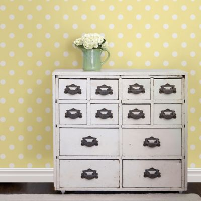 WallPops!® NuWallpaper™ Dottie Peel & Stick Wallpaper in Yellow