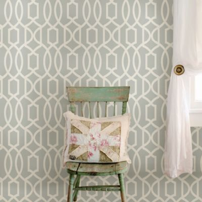 WallPops!® NuWallpaper™ Grand Trellis Peel & Stick Wallpaper in Grey