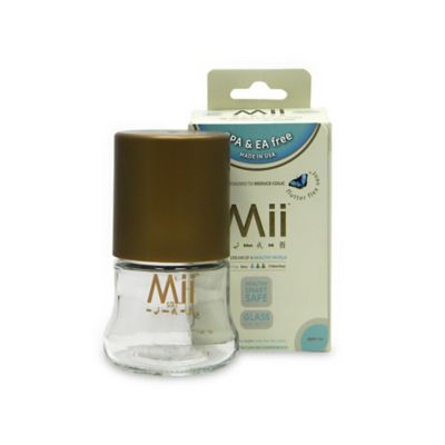 Mii™ 4 oz. Glass Nurser Bottle with Sleeve in Brown
