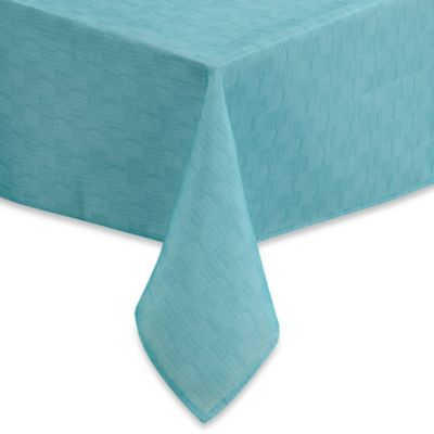 Mason 70-Inch Round Umbrella Tablecloth in Aqua