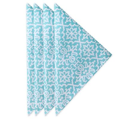 J. Queen New York™ Roma Napkins in Aqua (Set of 4)