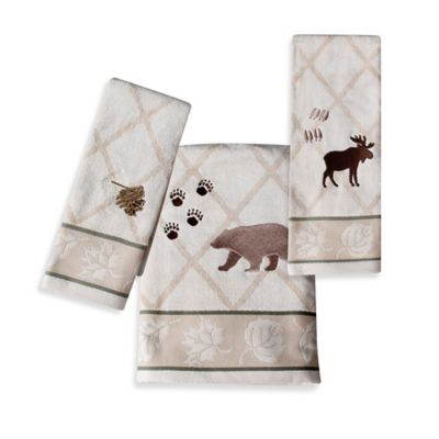 Silhouette Lodge Hand Towel in Natural
