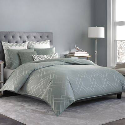 Salinas Full/Queen Duvet Cover in Mist