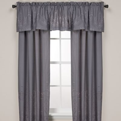 Anthology™ Scarlet 84-Inch Window Curtain Panel Pair in Grey