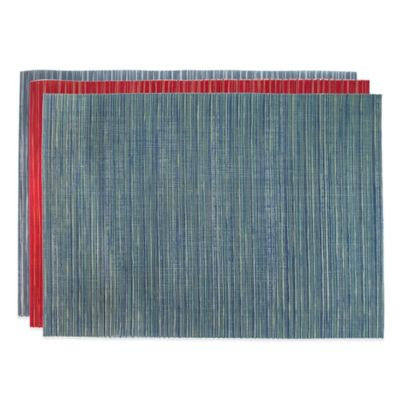 Libero Woven Reversible Placemat in Red