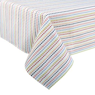 Fiesta® Ditsy 52-Inch x 70-Inch Oblong Tablecloth in White/Multi
