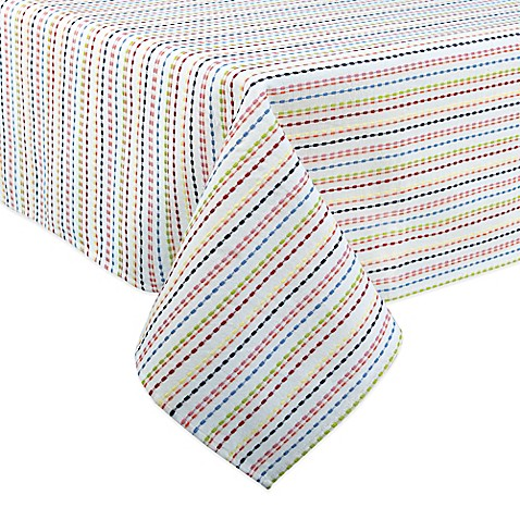 Buy fiesta ditsy 60 inch x 120 inch oblong tablecloth in for Tablecloth 52 x 120