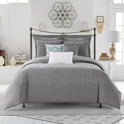 Anthology™ Scarlet European Pillow Sham in Grey