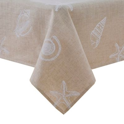 Stamped Shells 60-Inch x 84-Inch Oblong Tablecloth