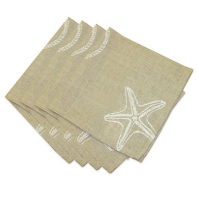 Stamped Shells Napkins (Set of 4)