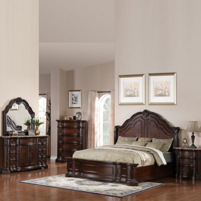 Pulaski Edington 5-Piece Queen Bedroom Set in European Cherry