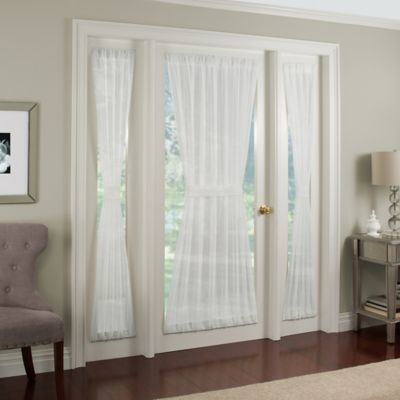 Crushed Voile Rod Pocket 72-Inch Door Panel in Taupe