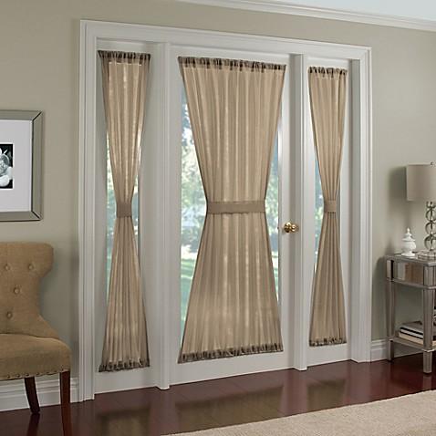 crushed voile rod pocket door panel. Black Bedroom Furniture Sets. Home Design Ideas