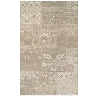 Couristan® Afuera Country Cottage 3-Foot 11-Inch x 5-Foot 7-Inch Indoor/Outdoor Rug Sea Mist