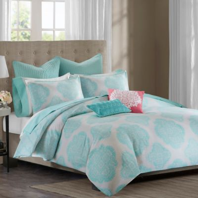 Echo Design™ Bindi Twin Duvet Cover in Aqua