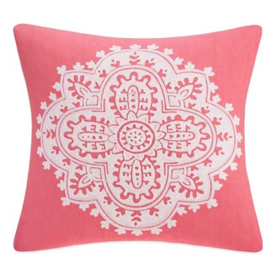 Echo Design Throw Pillows : Buy Echo Design Bindi Square Throw Pillow in Coral from Bed Bath & Beyond