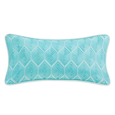 Echo Design Throw Pillows : Echo Design Bindi Oblong Throw Pillow in Aqua - Bed Bath & Beyond