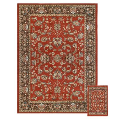 Reaction 2-Piece Traditional Area Rug Set in Rust