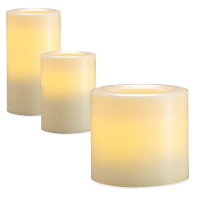 Loft Living LED Flameless Medium Plast Pillar Candle