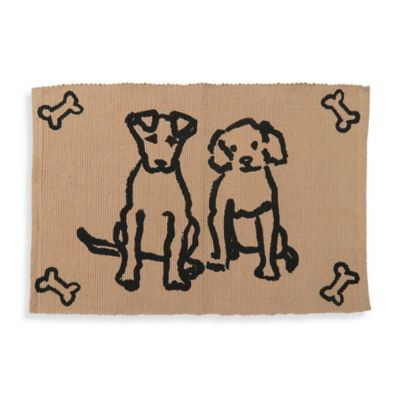 Park B. Smith Dog Friends Pet Mat in Beige