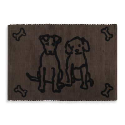 Park B. Smith Dog Friends Pet Mat in Chocolate