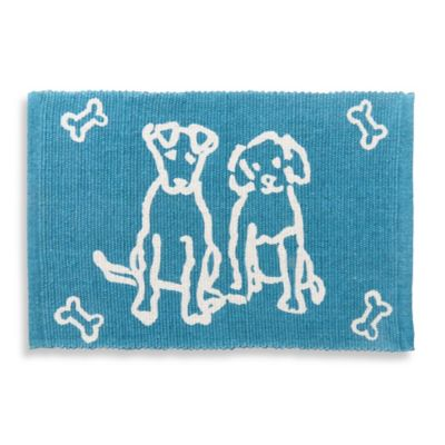 Park B. Smith Good Dog Pet Mat in Tropical Blue