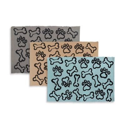 Park B Smith Puppy Paws 13-Inch x 19-Inch Tapestry Mat in Aqua