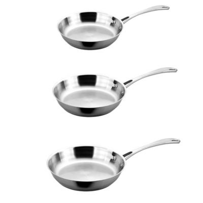BergHOFF® 3-Piece Copper Clad Fry Pan Set