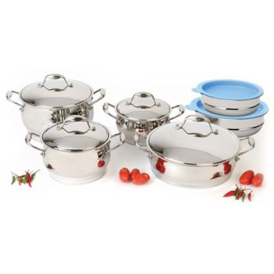 BergHOFF® Zeno 12-Piece Cookware Set with Mixing Bowls