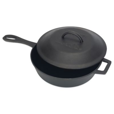 Bayou Classic® 3-Quart Cast Iron Covered Skillet