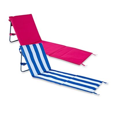 Folding Beach Chair Mat in Pink Stripe