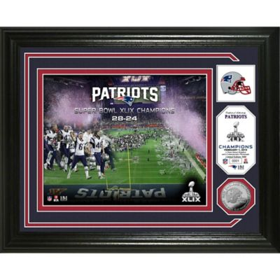 NFL New England Patriots Super Bowl XLIX Champions Minted Coin Photo Mint