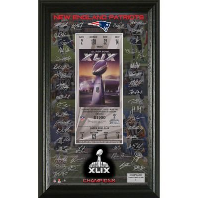 NFL New England Patriots Super Bowl XLIX Champions Signature Ticket