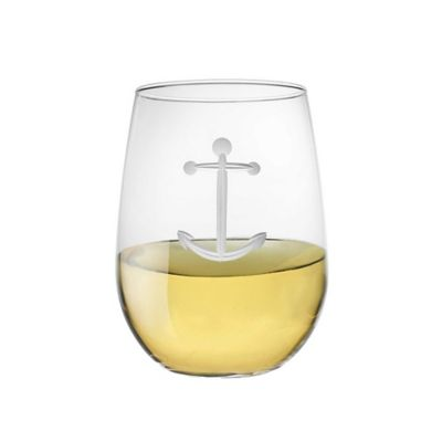 Anchor Stemless Wine Glasses (Set of 4)