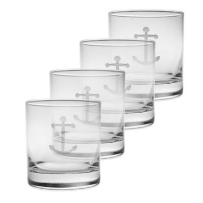 Anchor Double Old Fashioned Glasses (Set of 4)