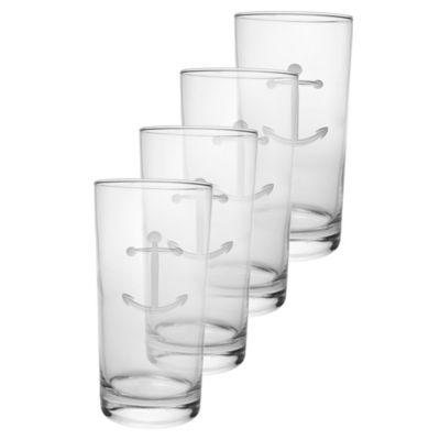 Anchor Cooler Glasses (Set of 4)