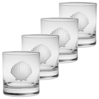 Seashell Double Old Fashioned Glasses