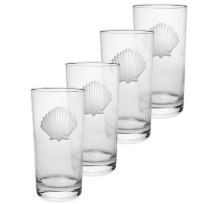 Seashell Cooler Glasses (Set of 4)