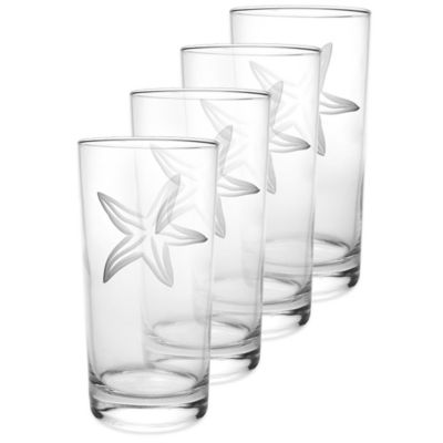 Starfish Cooler Glasses (Set of 4)
