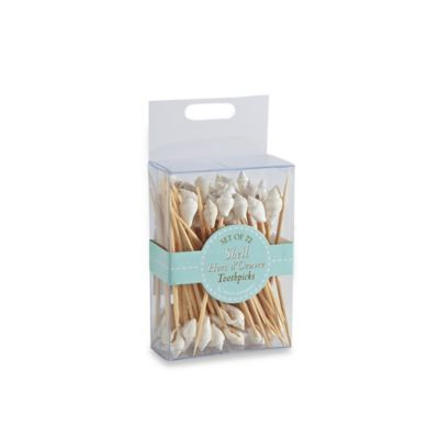 72-Count Seashell Hors D'Oeuvre Toothpicks