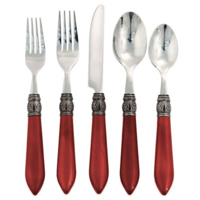 Hampton Forge Signature Sophia 20-Piece Flatware Set in Red