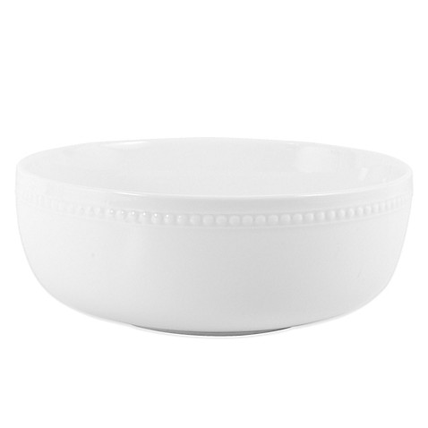 Everyday White® Beaded Serving Bowl - BedBathandBeyond.com